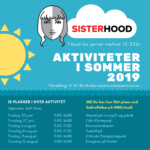 Oversikt over Sisterhoods ferietilbud 2019